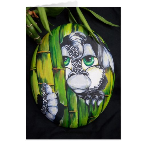Tarjeta tramada de bambú del dragón del bebé de la