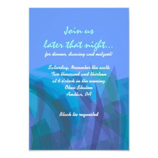 Tarjeta transparente de MitzvahReception de la Comunicado Personal