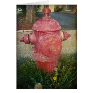 Tarjeta tratada urbana de la boca de incendios