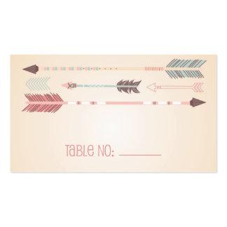 Tarjeta tribal del acompañamiento del número de la tarjetas de visita