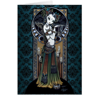 Tarjeta tribal gótica del arte del bailarín de la