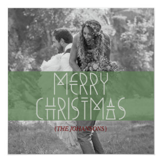 "Tarjeta tribal moderna de la foto del navidad invitación 5.25"" x 5.25"""