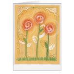 Tarjeta: Trío anaranjado de la flor por Kim Y. Tarjeta De Felicitación