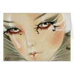 Tarjeta triste de la lágrima del bufón