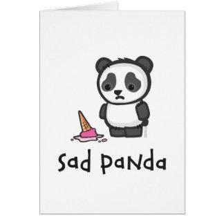 Tarjeta triste de la panda