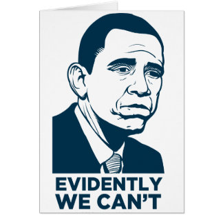 Tarjeta triste de Obama