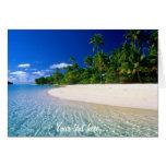 Tarjeta tropical adaptable del paraíso