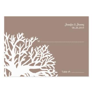 Tarjeta tropical blanca y de marfil del asiento de tarjeta de visita