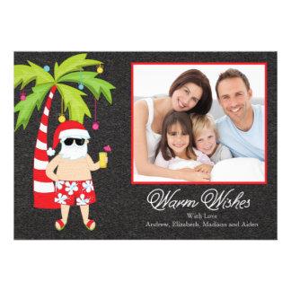 Tarjeta tropical de la foto de familia del día de invitaciones personales