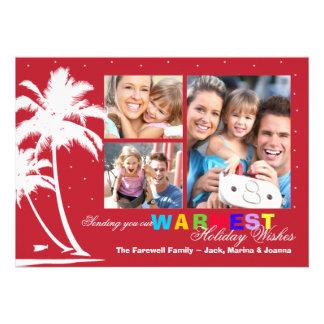 Tarjeta tropical de la foto del día de fiesta de l anuncio