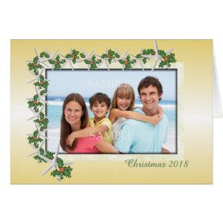 Tarjeta tropical de la foto del tema del navidad
