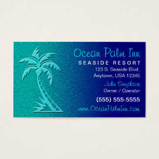 Tarjeta tropical/de la palmera de visita tarjetas de visita