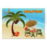 Tarjeta tropical de la playa