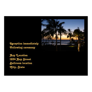 Tarjeta tropical de la recepción nupcial del tarjetas de visita grandes