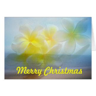 Tarjeta tropical de las Felices Navidad del