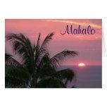 Tarjeta tropical de Mahalo