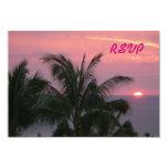 Tarjeta tropical de RSVP Comunicado