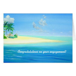 Tarjeta tropical del compromiso de la playa de Mal