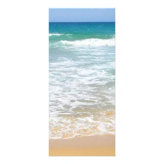Tarjeta tropical del estante de la playa lonas personalizadas