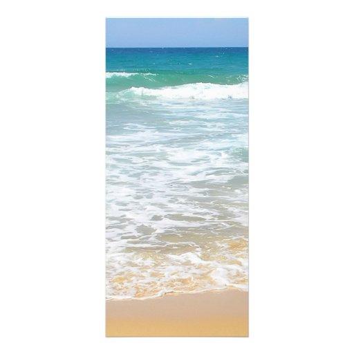 Tarjeta tropical del estante de la playa tarjetas publicitarias personalizadas
