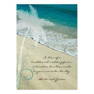 Tarjeta tropical del favor de la caridad del boda tarjetas de visita grandes