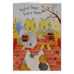 """Tarjeta """"truco o invitación """" de Halloween"""