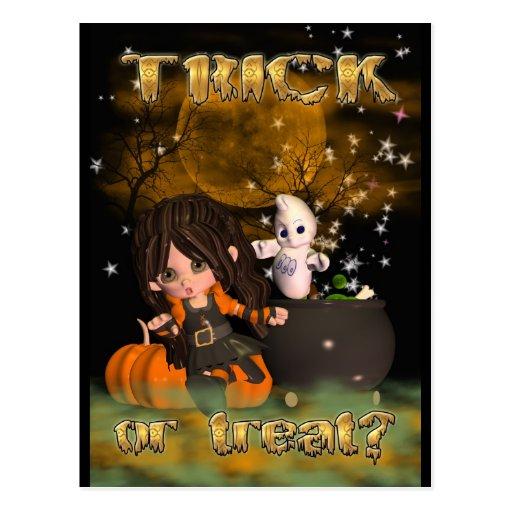 ¿tarjeta, truco o invitación de Halloween? feliz Postal