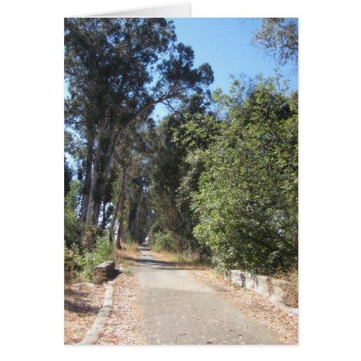 Tarjeta - un camino viajó menos