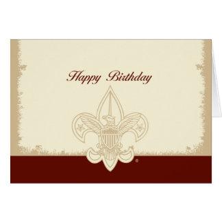 Tarjeta universal del feliz cumpleaños del emblema