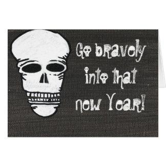 Tarjeta valiente del Año Nuevo