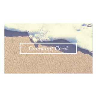 tarjeta varada del comentario de la onda tarjetas de visita