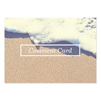 tarjeta varada del comentario de la onda tarjetas de visita grandes