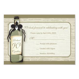 """Tarjeta varietal y caprichosa del vino de la invitación 3.5"""" x 5"""""""