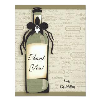 """Tarjeta varietal y caprichosa del vino de la invitación 4.25"""" x 5.5"""""""