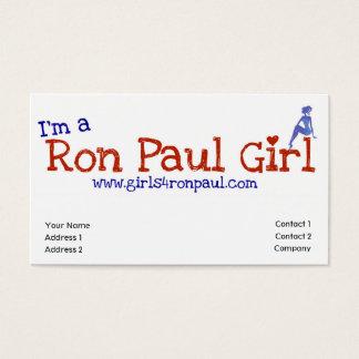 Tarjeta VBusiness de los chicas de Ron Paul Tarjetas De Visita