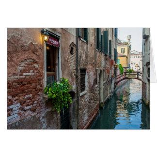Tarjeta veneciana del canal