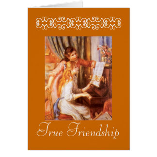 Tarjeta verdadera de la amistad