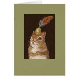 tarjeta verdadera del wuv con la ardilla del bebé
