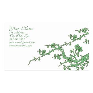 Tarjeta verde adaptable del perfil del negocio tarjetas de visita
