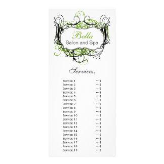 tarjeta verde, blanco y negro elegante del estante diseños de tarjetas publicitarias