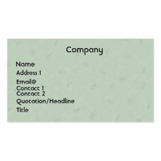Tarjeta verde clara del perfil tarjetas de negocios