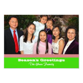 Tarjeta verde de la foto del bastón de caramelo anuncio