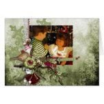Tarjeta verde de la foto del navidad
