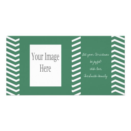 Tarjeta verde de la foto del navidad de Chevron Tarjetas Fotográficas