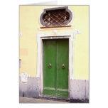 Tarjeta verde de la puerta