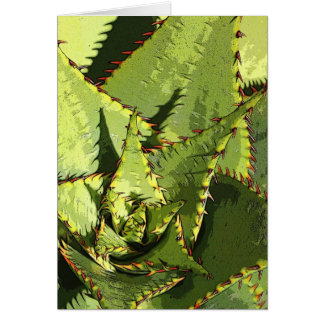 Tarjeta verde del agavo