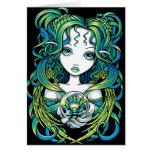 "Tarjeta verde del ángel del agua de ""Kallan"" Lotus"