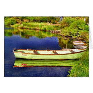 Tarjeta verde del barco