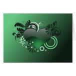tarjeta verde del corazón