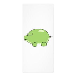 Tarjeta verde del estante del cerdo lonas